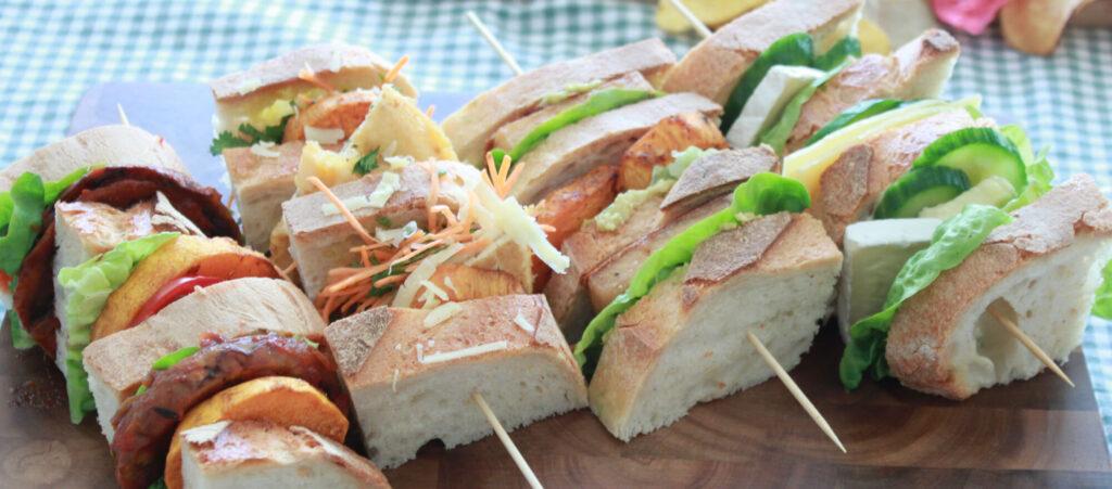 vegetarische club sandwiches
